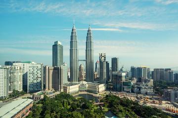 Kuala lumpur skyline in the morning, Malaysia, Kuala lumpur is capital city of Malaysia