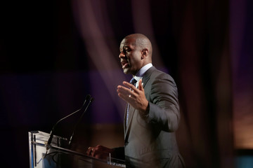 Tallahassee, Florida Mayor, Andrew D. Gillum addresses the audience at he Netroots Nation annual conference for political progressives in Atlanta