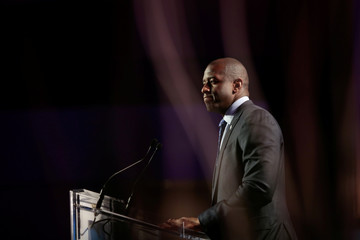 Tallahassee, Florida Mayor, Andrew D. Gillum addresses the audience at the Netroots Nation annual conference for political progressives in Atlanta