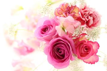 薔薇とカーネーションのブーケ