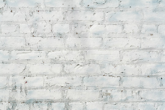 Whitewashed Brick Wall background texture