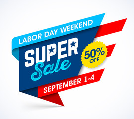 Labor Day Weekend Super Sale banner design