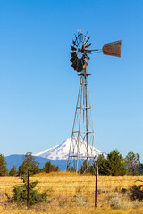 Water Pump Windmill in Central Oregon Farm