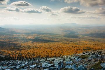 Autumn trekking in the mountains