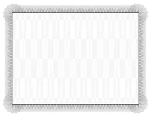 Classic style Certificate with grey floral border