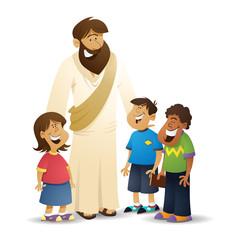 Jesus With Modern Children