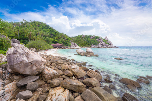Beautiful Natural Rock Stone On The Tropical Beach At Freedom Beach