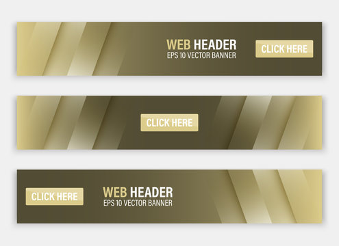 Horizontal vector website header or banner.