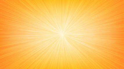 White Light Speed Line Burst Ray on Orange Background Fototapete