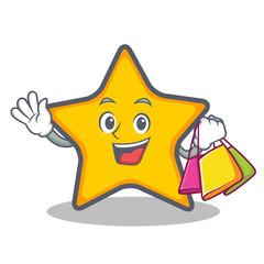 Shopping star character cartoon style