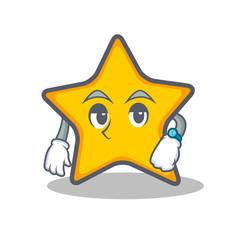 Waiting star character cartoon style