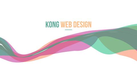 Header website abstract background design