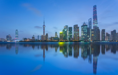 the bund skyline with the oriental pearl tower,shanghai