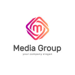 Abstract vector logo. Media Group. Multimedia logo.