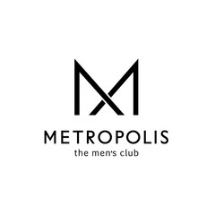 Vector logo template for men's club. Letter m in the form of a bow tie. Men sign