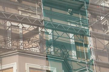Baugerüst,  Baustelle, Fenster