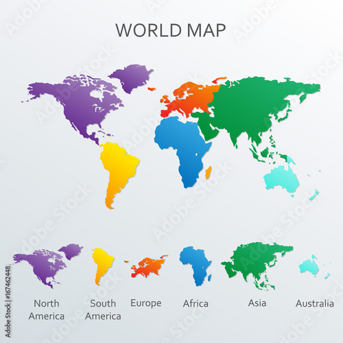 World map infographics template vector world map with continents world map infographics template vector world map with continents gumiabroncs Gallery