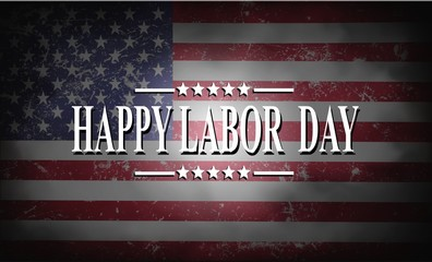 Happy Labor Day background with USA flag Fototapete
