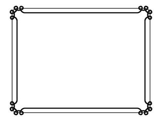 Frame simple border two lines horizontal black.