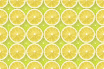lemon over lime background