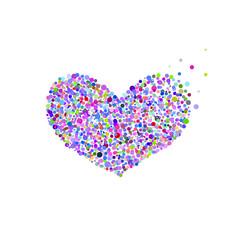 Bright heart. Bubbles design, Holidays, Valentine's Day.
