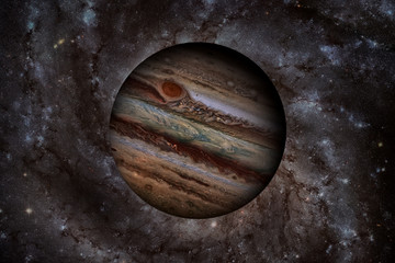 Solar System - Jupiter. It is the largest planet in the Solar System. Elements of this image furnished by NASA.