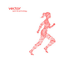 Abstract vector illustration of running woman.