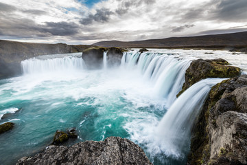 Godafoss Wasserfall im Norden Islands