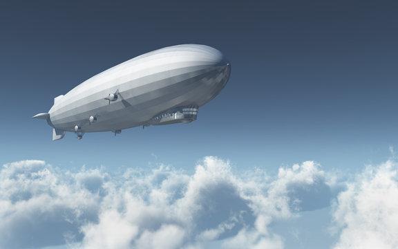 Luftschiff über den Wolken