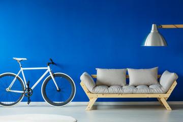 Bike in scnadinavian style interior
