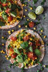 Vegetarian Summer tacos