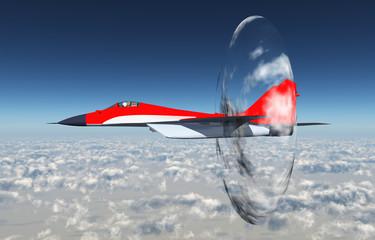Überschallflug, Wolkenscheibeneffekt