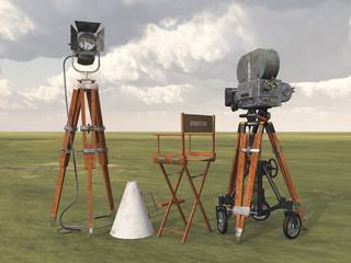 Vintage movie camera equipment