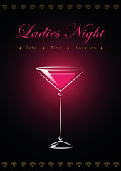Ladies Night Plakat Cocktail