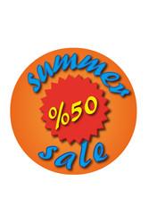 summer sale circular vector design