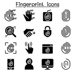 Fingerprint System icons