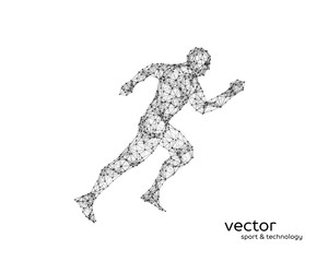 Abstract vector illustration of running man.