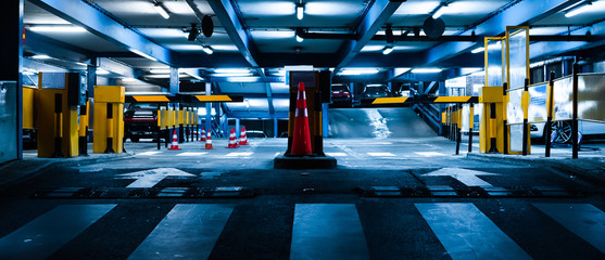 Garage /parking in the night