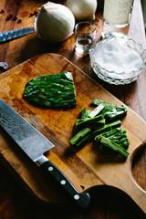 preparing mexican vegetable salad