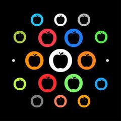 Modernes UI design - Apfel