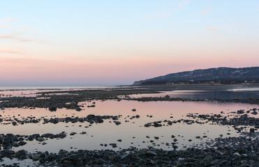Tidal pools on Homer Beach at dawn