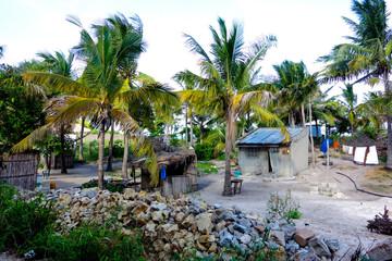 Small house near the ocean