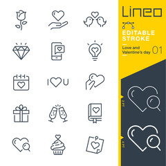 Lineo Editable Stroke - Love and Valentine's day line icons Vector Icons - Adjust stroke weight - Expand to any size - Change to any colour
