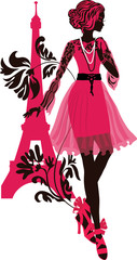 Stylish fashion woman silhouette