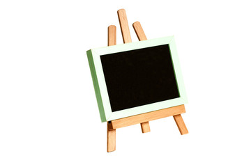 Easel with a school wooden blank blackboard