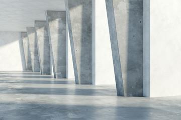 Obraz Concrete interior - fototapety do salonu