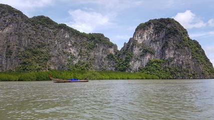 Longtail boats in the Phang Nga Bay