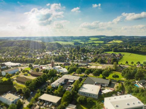 Aerial view of Gummersbach - Windhagen-Kotthausen