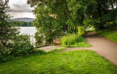 Footpath next to English lake