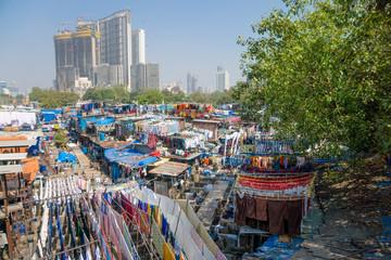Dhobi Ghat - Wäscherei in Mumbai, Indien
